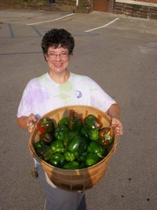 sally with peppers
