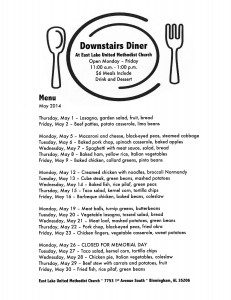 DownstairsDinerMenuMay2014